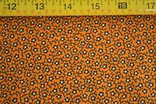 By 1/2 Yd, Black Orange Quilting, Blue Hill/Colonial Prints/Morgan/7327-18, B978