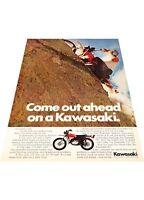 1972 Kawasaki F7 Enduro Motorcycle - Vintage Advertisement Print Ad J405