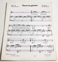 Partition vintage sheet music NICOLETTA : Dans le Ghetto * 80's Marnay Klinger