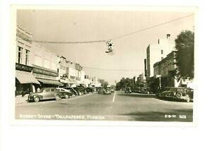 RPPC Lewis State Bank & Street Scene Tallahassee, Florida c 1940s