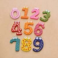 Wood Cute Fridge Magnet Alphabet Number Early Educational Kids Baby Toy L2W0