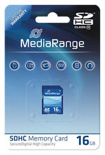 MediaRange SDHC 16 GB Karte SD Speicherkarte Class 10