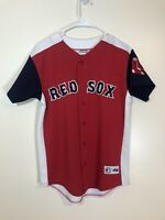Vintage Majestic Boston Red Sox Manny Ramirez Red White Blue Jersey Size Large