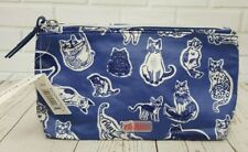 Cath Kidston Make up Bag Squiggle Cats Navy Colour New with Tag