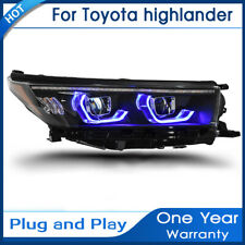 For Toyota Highlander Headlights assembly LED Lens Double Beam KIT 2018