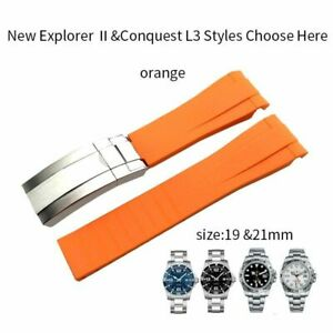 19 - 22mm Silicone Watch Strap Watchband For Role Daytona GMT Submariner DEEPSEA