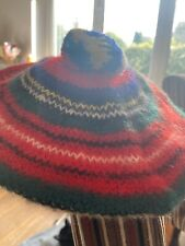 Scottish Royal Stewart, 100% Wool Hat Cap, With Bobble, Childs