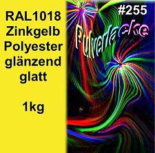 PULVERLACK 1kg Beschichtungspulver RAL1018 gelb Pulverbeschichtung Lackierpulver