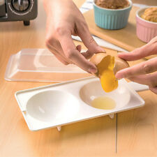 Microwave Oven Two Egg Poacher Sandwich Breakfast Instant Cooker Kitchen Tool ST
