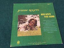 Jeanne Rogers God Gave The Song Gospel LP Bob Cline Singers BGVS Ken Medema