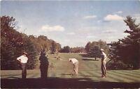 Mountainhome Pennsylvania~Golfing at Monomonock Inn~1960s Postcard