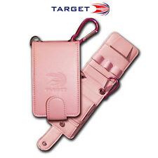 Target Genuine leather Compact Folding PU Darts Wallet Pink