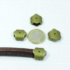 8 Abalorios Para Cuero Media Caña 17mm T06A Cobre Perles Copper Perline Beads