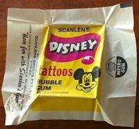 Scanlens 1972 DISNEY TATTOOS Wax Wrapper MICKEY MOUSE Scarce