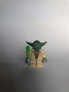 LEGO Star Wars YODA (sw00051) Minifigure w/ Light Saber 4502 7103 7260