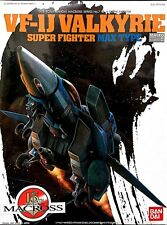 Bandai 1/72 Macross No 7 VF-1J Valkyrie Super Fighter Max Type Plastic Model Kit