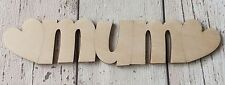 ♥♥pack of 10 mum signs♥♥ natural 3mm birch plywood - DIY Mother's Day gifts