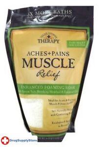 BL Village Nat. Aches + Pains Muscle Foam Soak Salts 2.25Lbs - THREE PACK