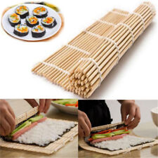 Sushi Roll Mat Maker Kit Rice Roller Bamboo Mold Mould Kitchen DIY Set w/ Spoon