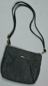 Travelon Black Anti-Theft Crossbody Hobo Bag Purse New Bin3