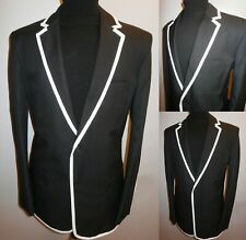 New Black Blazer Sz 50 The Prisoner Style Suit Jacket Boating College Sport Coat