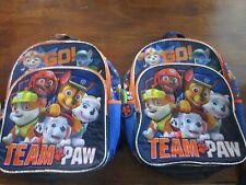 New Paw Patrol Full Size Backpack School Book Bag Tote Go Team Paw! 2 backpacks