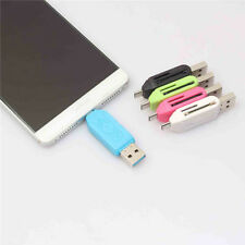 USB 2.0 + Micro USB Kartenleser OT Adapter SD T Flash Speicher Li7