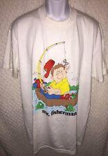 Vintage Mr. Fisherman Humor T-Shirt Size Adult XL by Stedman