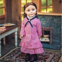 18 Inch Doll Clothes LITTLE HOUSE AUTHENTIC RED CHECK OUTFIT FitS American Girl