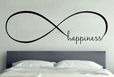 HAPPINESS INFINITY LOVE Wall Art Decal Quote Words Lettering Home Decor DIY