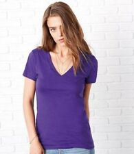 Short Sleeve Waist Length Cotton Petite T-Shirts for Women
