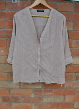 Ladies All Saints Wairyn Shirt Beige Taupe V Neck Slouch Blouse Top Size 8 44""