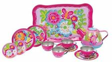 Garden Party Tin Tea Set - Kitchen Play by Schylling #GFTTS