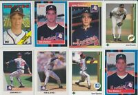 Lot of 22 Tom Glavine John Smoltz cards (see pics) w/ 1988 1989 Rookie RC Braves