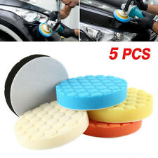 5x 7 inch 180mm Hex Logic Type Auto Car Polishing Waxing Pads Rotary Polisher
