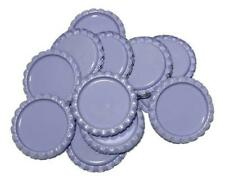 10 pcs. Lavender flattened bottle caps
