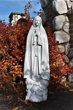 Mary Statue Our Lady of Fatima 32 inch Garden Statue Indestructible Polyurethane