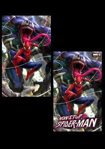 Non-Stop Spider-man #1 Derrick Chew Exclusive Virgin & Trade Set Near Mint NM