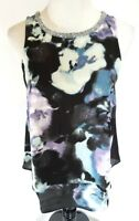Juicy Couture Womens Shirt Size XS Tank Blouse NWT Floral Tiered Embellished