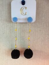 Charming Charlie Women's Unique Blue Black Globe Earrings NWT Free Shipping