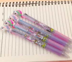 UNICORN 3 colour pen ink ballpoint pen girls party bag filler choose number