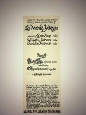 LA MONTE YOUNG FLYER designed by marian zazeela for a concert 1962