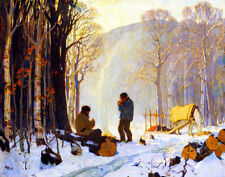 Gagnon Clarence Early Winter Morning In The Woods Baie Saint Paul Canvas  #3287