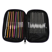 22pcs Set Multi-colour Aluminum Crochet Hooks Needles Knit Weave Craft Yarn 2016