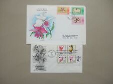 Two ORCHIDS fdc