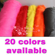Solid Shaggy Faux Fur Fabric long Pile Fur Costumes Crafts Photography Props BTY