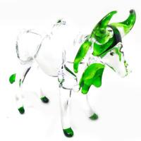 0x #2 hand blown clear glass art miniature figurine crystal dollhouse animal