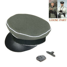 Crusher Cap Officer Hat /& Badges #1-1//6 Scale Kurt Meyer DID Action Figure