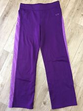 Champion Womens Yoga Pants Size XL 14 16 X061 Fitness Purple Warmup Workout