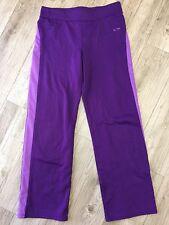Champion Womens Yoga Pants Size XL 14 16 X061 Fitness Purple Warmup Workout